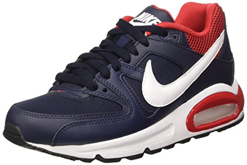 Nike Air Max Command (Gs), Scarpe da Corsa Bambini e Ragazzi, Multicolore (Obsidian/White-University Red), 39 EU