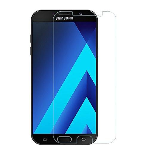 Preisvergleich Produktbild EasyAcc Samsung Galaxy A5 (2017) Schutzfolie Panzerglas Klar Anti-Kratz Displayschutz - 9H Hardness aus gehärtetem Glas (bewusst kleiner als das Display, da dieses gewölbt ist)