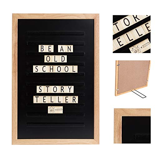 LEDR - Oldschool Tablero Letras Word Madero 30 x 45