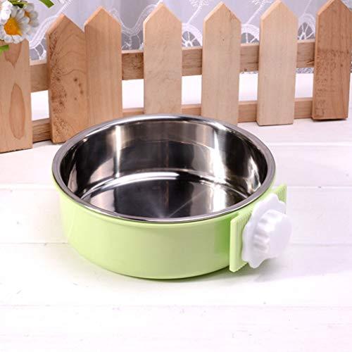 Light Blue Plastic Bowls (DERNON Edelstahl Pet Bowl Cage Hundenapf Hängen Wasser Futter FeederLight Greens hellgrün)