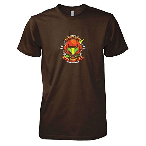 TEXLAB - Samus Bug Control - Herren T-Shirt, Größe XL, braun (Echo Cosplay Kostüm)