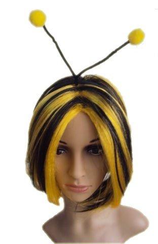 Bienenperücke Perücke Biene Bienen Schwarz Gelb mit Fühler Tierperücke Tier süß