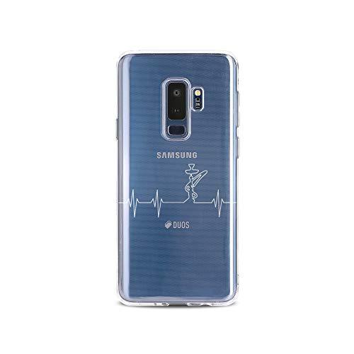 licaso Samsung S9 Plus Handyhülle Smartphone Samsung Case aus TPU mit Shisha Print Motiv Slim Design Transparent Cover Schutz Hülle Protector Soft Aufdruck Lustig Funny Druck