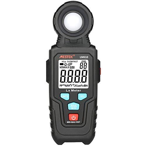 Lichtmesser Lichtmessgeräte Digital Luxmeter Handumgebungstemperatur Vermesser Mit Reichweite Bis Zu 100Klux Luxmeter Mit 3-Stellige LCD-Bildschirm