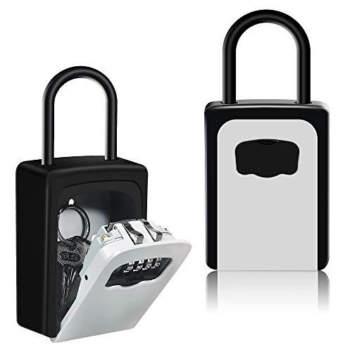 HUSAN Caja de Seguridad para Llaves con grillete para Montar en la Pared,...