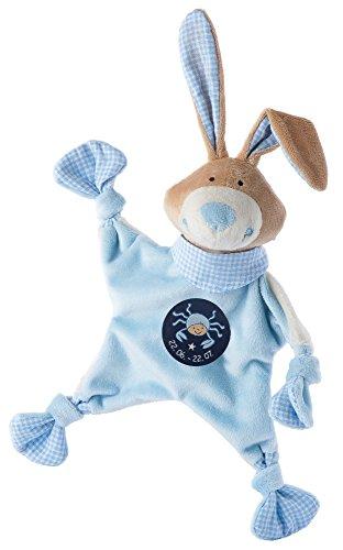sigikid, Jungen, Schnuffeltuch, Hase mit Sternzeichen Krebs, Blau, 48831
