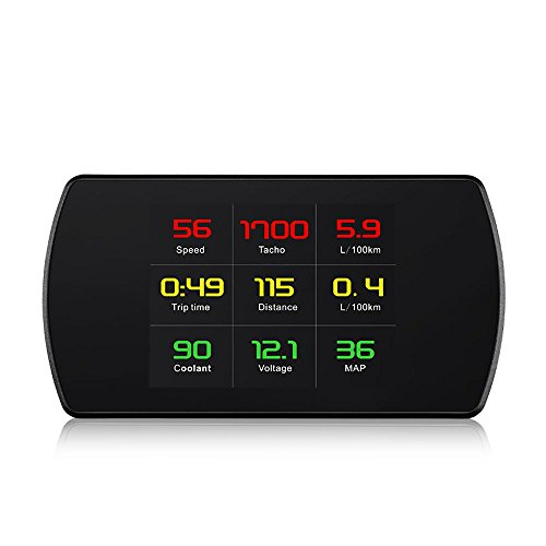"Universal Auto HUD Head Up Display P12 Universal GPS Tachometer 3"" HUD Digital Auto Kompass mit Schnellspanner Test, Kompass, Übergeschwindigkeit Alarm, Satellitenzeit für alle Autos"
