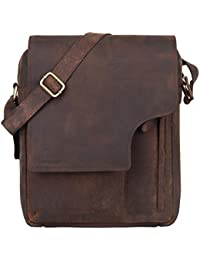 Leaderachi Men's Muskat Hunter Leather Messenger Bag - Apulia