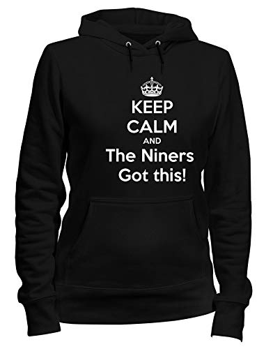 Kapuzen-Sweatshirt Frauen Schwarz TKC1154 Keep Calm and The Niners GOT This! (Niners Sweatshirt)
