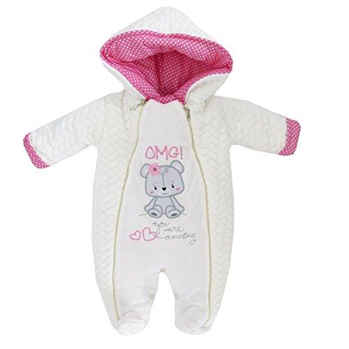 nzug Schneeanzug mit Kapuze beige Bär Amazing | 62 68 74 80 12 Monate (80) (Baby Bären Anzug)