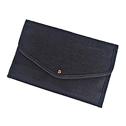 ODJOY-FAN Kulturbeutel [Design 2019] für Frauen, Einfach Kosmetiktasche tragbar Reise Handtasche Kulturbeutel, Make-Up Taschen, Faltbar Aufbewahrungstasche(Schwarz,1 PC)
