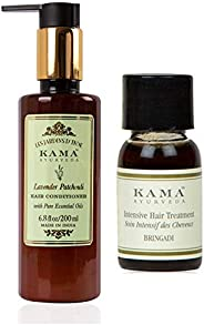 Kama Ayurveda Lavender Patchouli Hair Conditioner with Pure Essential Oils of Lavnder and Patchouli 200ml, Bri