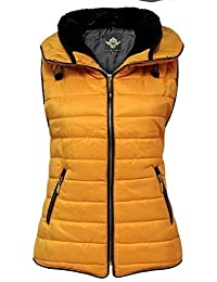 CANDY FLOSS WOMENS BODY WARMER LADIES GILET QUILTED PADDED ZIP SLEEVELESS COAT JACKET TOP