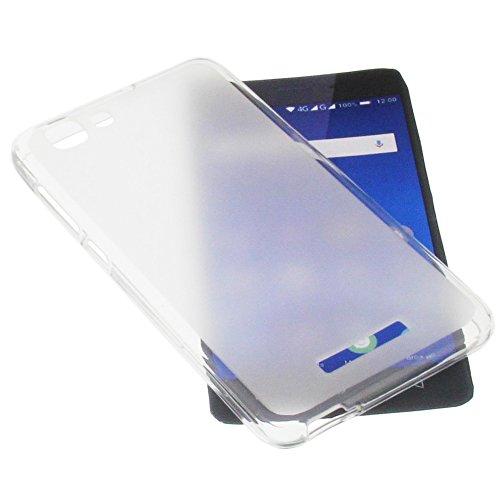 Tasche für Mobistel Cynus F10 Gummi TPU Schutz Handytasche transparent weiß