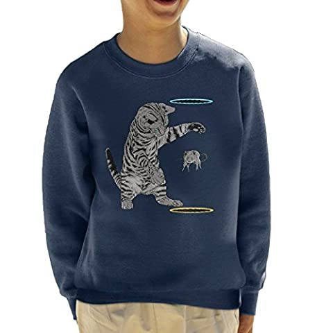 Portal Cat Get That Mouse Kid's Sweatshirt