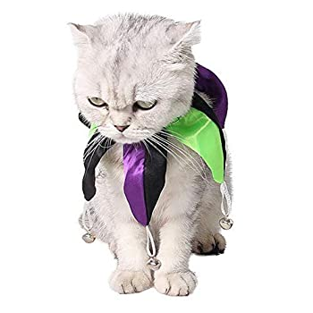 Pet Chat Chiot Halloween Noël Clown Cou Manche Réglable Longueur De La Mode S, M,S