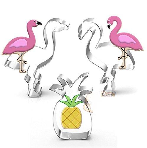�ck Tropical Cookie Cutter Set Flamingo und Ananas ¨ C Edelstahl ()