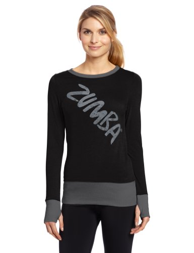 Zumba Fitness Indulge Maillot Manches Longues Femme Noir