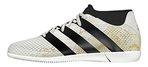 adidas Ace 16.3 Primemesh In J, Scarpe da Calcio Bambino Bianco (Ftwr White/core Black/gold Metallic)