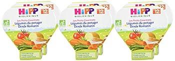 Hipp Biologique Les Petits Gourmets Légumes du Potager Dinde Romarin dès 12 mois - 6 assiettes de 230 g