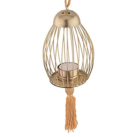 Store Indya Decorations Sale Tea light Iron Lantern with Brass Plating for Indoor/Outdoor Home Garden