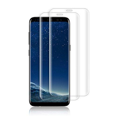 Samsung Galaxy S8 Schutzfolie [2 Stück],Samsung Galaxy S8 Displayschutzfolie,Panzerglasfolie für Samsung Galaxy S8,Handy Panzerglasfolie,[Full Coverage] Displayschutzfolie,9H Härtegrad Anti-Kratzer für Samsung Galaxy S8