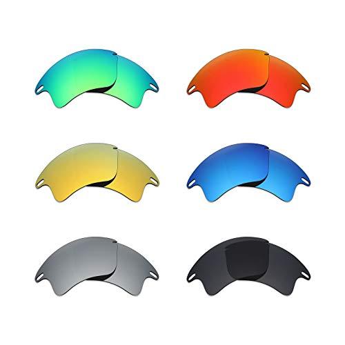 MRY 6Paar Polarisierte Ersatz Gläser für Oakley Fast Jacket XL Sonnenbrille