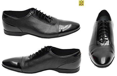 Muga Hommes chaussures à lacets-2220- Noir