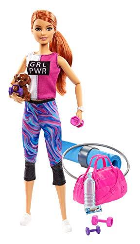 Barbie- wellness playset sport con bambola e accessori giocattolo per bambini 3+ anni, multicolore, gjg57