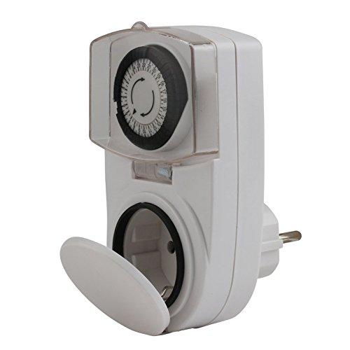 UNITEC 46432 Tageszeitschaltuhr mini, analog, für Auߟenbereich