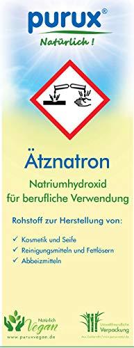 Purux Ätznatron Natriumhydroxid NaOH 2kg Ätzsoda E524