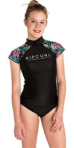 Sleeve Rash Shirt (RIP CURL Teenager-Mädchen Breaker Capped Sleeve Rash Weste Top Schwarz - UV-Sonnenschutz und SPF-Eigenschaften)