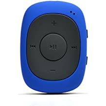AGPtek G02 Mini-clip Reproductor de MP3 8 GB de capacidad con radio FM( una Funda silicona incluido) ,