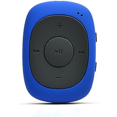 AGPtek G02 Mini-clip Reproductor de MP3 8 GB de capacidad con radio FM( una Funda silicona incluido) ,
