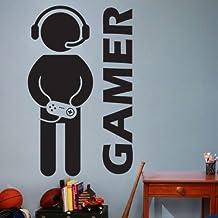 Hecho a la medida de los juegos Juegos de Video Juegos Joystick Pared decoración del hogar Etiqueta Arte Vinilo Adhesivo Pared Mural Paper-You elegir nombre y color