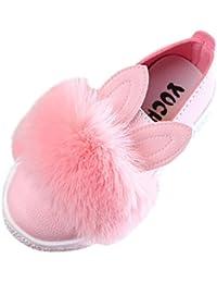 Fossen Niña Zapatos de Oreja de Conejo del Pelusa de Vestir