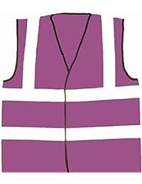 Morado Unisex alta visibilidad chalecos de seguridad reflectante Hi Viz