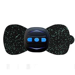 Anliyou Pulsmassagegerät Kleine Mini-Massageaufkleber Elektronisches Massagegerät Akupunkturpunkt Entspannende Massager für Ganzkörper Shiatsu Multifunktionspflaster (4.5 * 4.5 CM, Schwarz)