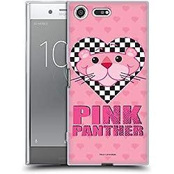 Head Case Designs Officiel The Pink Panther Coeur à carreux Pop-OP Coque en Gel Doux Compatible avec Sony Xperia XZ Premium