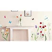 Adesivo da parete decorazione per la casa Fiori Colorati