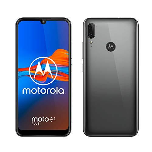"Motorola Moto E6 Plus (pantalla 6,1"" max vision, doble cámara de 13 MP, 32GB/2 GB, Android 9.0, Dual SIM) Gris Gunmetal + Funda"