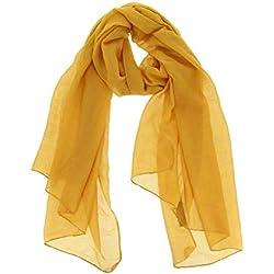 Fashiongen - Fular para Mujer, WIKTORIA - Amarillo oscuro