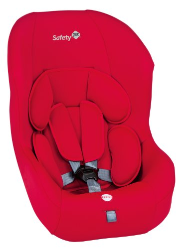 Safety 1st 80187651 - Simply Safe Comfort Kindersitz Gruppe 0/1 (bis 18 kg), Full Red