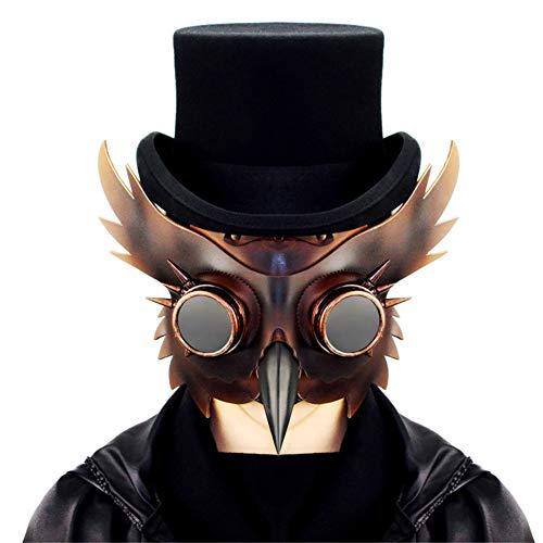 Einzigartige Kostüm Weihnachten - Lxmhz Steampunk Pest Vogel Gothic Punk Maske Flügel Niet Brille MaskParty Einzigartiges Design Kostüm Maskerade Weihnachten Cosplay Requisiten