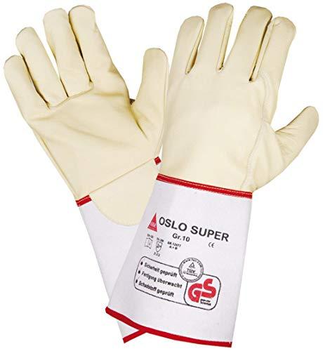Hase Schweißer-Handschuhe Oslo-SUPER - Rindnabenleder - TÜV GS - Gr. 10 -