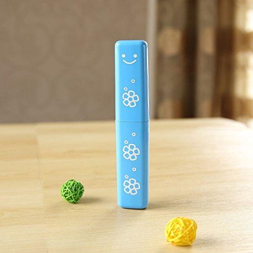 XXAICW Kleinen Zahnbürste Box Mit Deckel Einfach Kinder Portable Set Handgepäck Waschen Tasse Kreative Einfache Lagerung Pinsel Reisen Süße Blau
