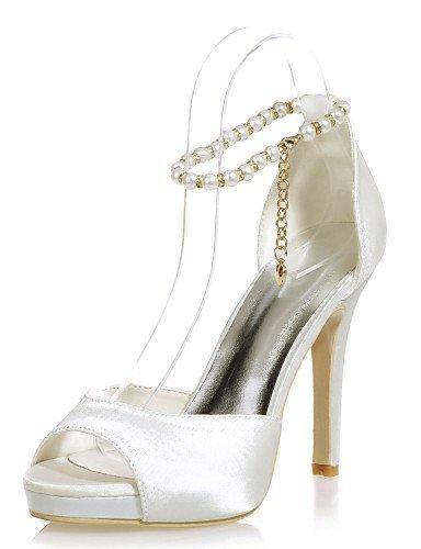 ShangYi Chaussures Femme - Mariage / Soirée & Evénement - Noir / Bleu / Rouge / Ivoire / Blanc / Argent - Talon Aiguille - Bout Ouvert - Sandales Black