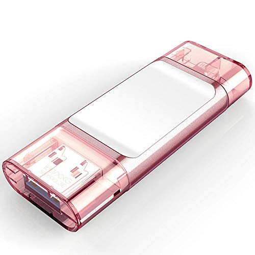 USB Sticks U Disk USB3.0 Handy-Erweiterungscontainer Mobile Computer Flash Drive 32G.64G, 128G USB Stick 64gb (Capacity : 128G, Color : Pink)