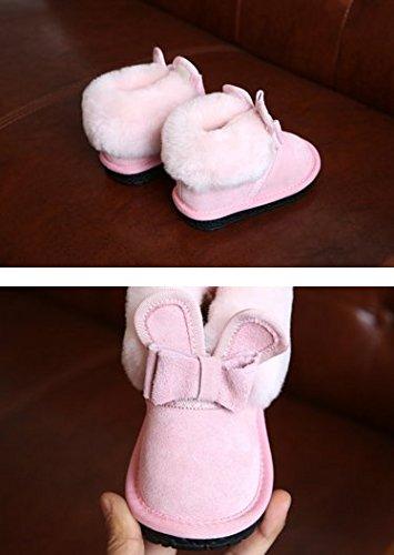 Ohmais Enfants Garçon Fille bottes et bottines botte classiques fille petit talons Chaussure pink