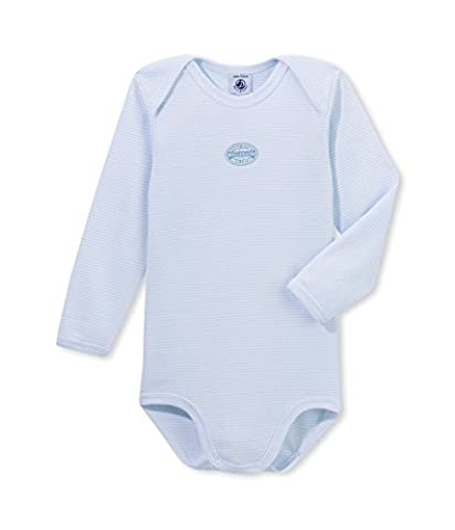 Petit Bateau Baby - Jungen Body ML CR MILLER, Gestreift, Gr. 104 (Herstellergröße: 4ans/104cm), Blau (FRAICHEUR/ECUME 67)